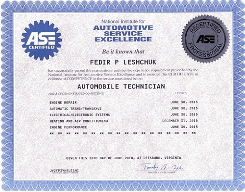 fake ase certificate template - outstanding how many ase certifications are there for